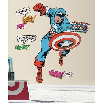 RoomMates Marvel Classic Captain America Peel and Stick Giant Wall Decals