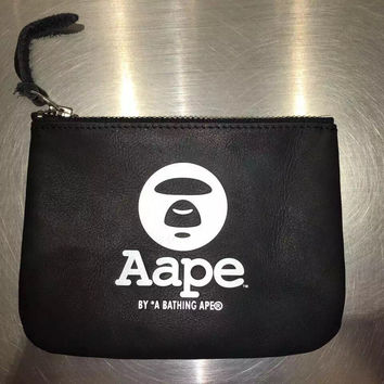 Bape Purse Leather Key Holder [10507736135]