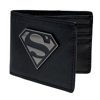 Seen superman animated cartoon wallet purse Young students wallet purse personality Blue superman's wallet canvas DFT-1328