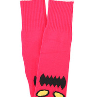 Toy Machine Monster Face Sock in Red
