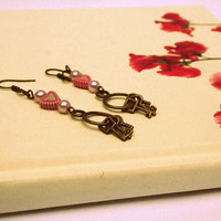 Keys to my Heart Earrings by thisenchantedpixie on Etsy