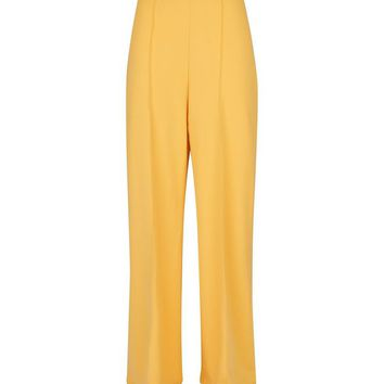 Yellow Pintuck Wide Leg Trousers | New Look