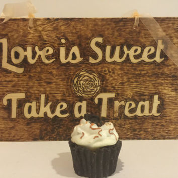 Wedding Signs, Love is Sweet Take a Treat, Ring Bearer,Cake Bar, Wedding Decor, Engagement Gift, Decorations, Wdding Signs Wood Signs