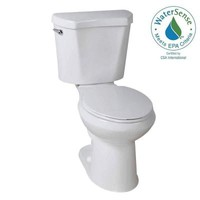 Glacier Bay 2-piece 1.28 GPF High Efficiency Round Toilet in White-N2428RB/N2428T - The Home Depot