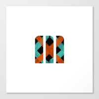 M Crisscross Canvas Print by Matt Irving