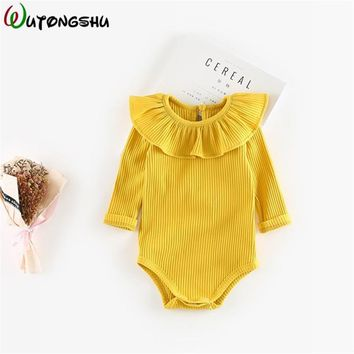 Baby Girl Clothes 3M-2Y Newborn Baby Girl Rompers Winter Long Sleeve Cotton Baby Girls One-piece Kids Jumpsuit Infant Clothes