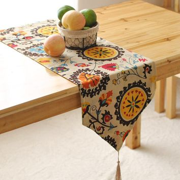 FUYA Bohemian Tassled Table Runner