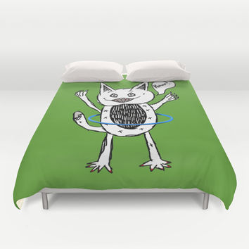 Monster Hula Hoop Duvet Cover by Mailboxdisco