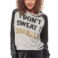 I Dont Sweat I Sparkle Two Tone Sweater