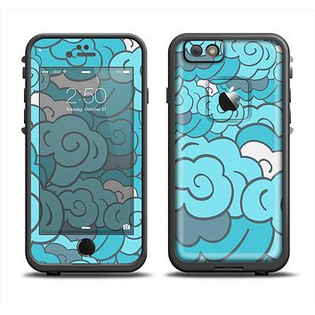 The Abstract Blue Vector Seamless Cloud Pattern Skin Set for the Apple iPhone 6 LifeProof Fre Case