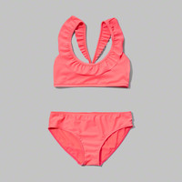 ruffle two-piece peasant swimsuit