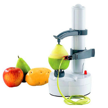 Electric Auto Rotating Potato Peeler Pear Apple Fruit Vegetable Cutter Slicer Kitchen Utensil