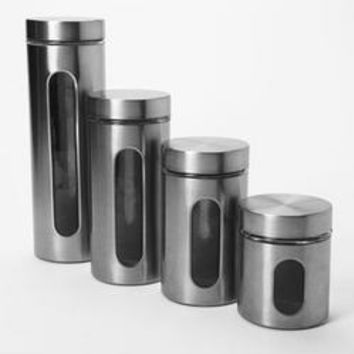 Palladian Ss Canister Set 4pc