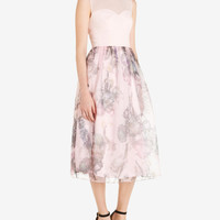 Torchlit Floral ballerina dress - Baby Pink | New Arrivals | Ted Baker UK
