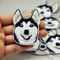Husky Embroidered Iron Patches for Clothing (Sewing Badge)