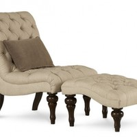 Fabric : 901619 : Les Alpes Accent Chair with Ottoman : Decorium Furniture Store Toronto