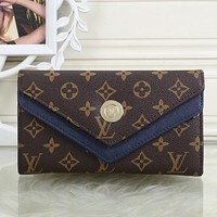LV Louis Vuitton Women Leather Shopping Fashion Wallet Purse