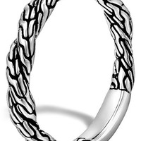 Women's John Hardy 'Classic Chain' Twisted Band Ring - Silver