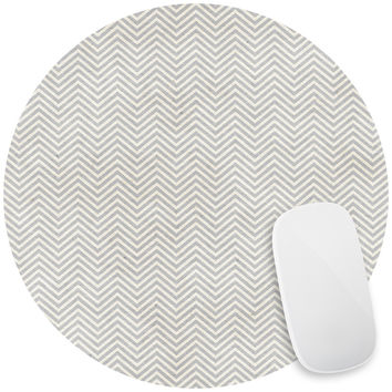 Fine Grey Chevron Mouse Pad Decal