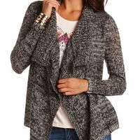 Draped Open-Knit Cardigan: Charlotte Russe