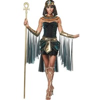 Sexy Deluxe Ladies Fancy Dress Cleopatra Egypt Womens Costume Egyptian Goddess Costume Egypt Queen