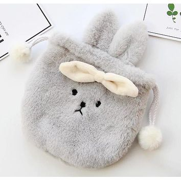 Cute Rabbit Neceser Vanity Trip Travel Toiletry Make Up Makeup Suitcase Case Storage Pouch Women Cosmetic Bag Organizer