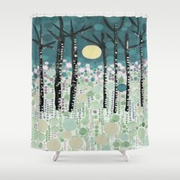 :: Moonlight Kiss :: Shower Curtain by :: GaleStorm Artworks ::