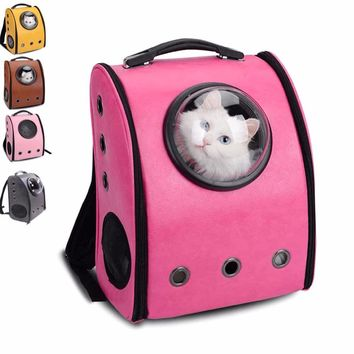 Portable Pet Carrier Backpack Cat Dog Breathable Safety Space Capsule Shape Travel Bag Shipping From Russia