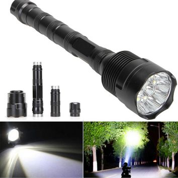 High Power 28000 Lumens 11LED 5 Mode CREE XML T6 Super Bright Aluminum LED Flashlight Zoomable Torch lights Outdoor Tools