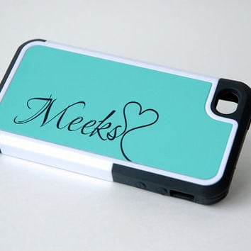 Personalized Monogrammed Cute Protective Mint Blue Phone Case, iPhone 4, 4s, 5, 5s, 5c, 6, 6+, Samsung Galaxy S4, S5 Case