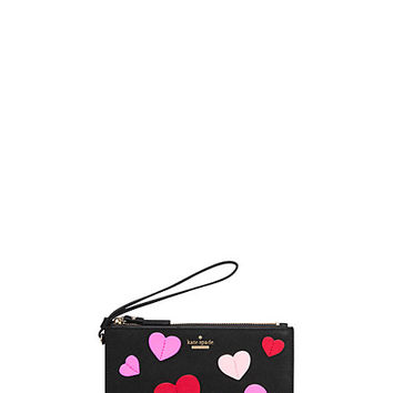 Kate Spade Secret Admirer Applique Heart Slim Bee Black Multi ONE