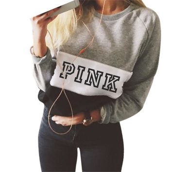 PINK Victoria's Secret Shirt Pullover Sweater Blouse Top-1