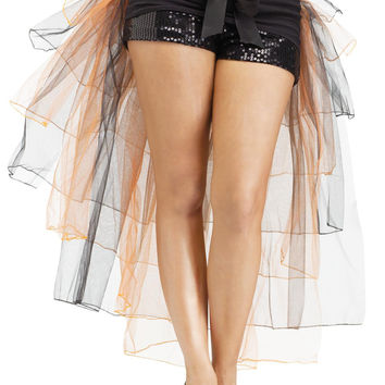 Tutu Bustle Skirt Adlt Orange