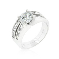 Silver Tone Stackable Ring Set