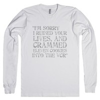 I'm sorry.. Elf Movie Quote-Unisex White T-Shirt