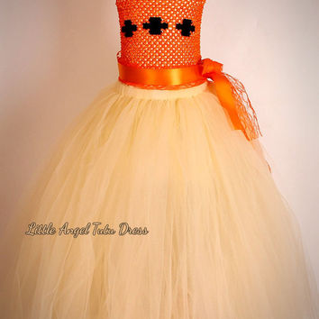 Moana Inspired Tutu Dress, Moana Fancy Dress, Moana Costume, Birthday Party Dress, Handmade Tutu Dress,