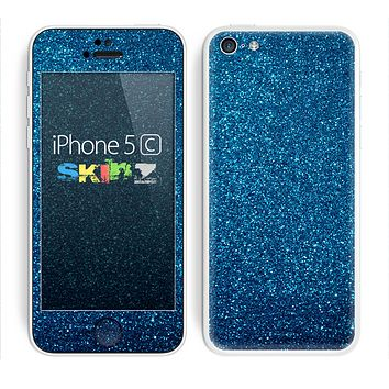 The Blue Sparkly Glitter Ultra Metallic Skin for the Apple iPhone 5c