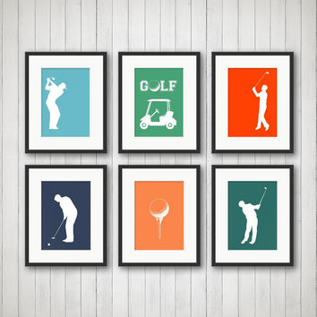 Golf Decor - Sports Decor, Golf Print, Teen Room, Nursery Decor, Children's Room, Playroom Decor, Sports Nursery, Kids Room Decor