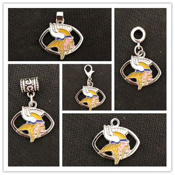 Football Team Minnesota Vikings Charms Pendant For DIY Necklace & Bracelet & Earring & Key Chain 10pcs/lot