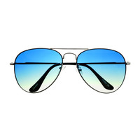 Classic Mens Womens Two Tone Lens Metal Aviator Sunglasses A1740