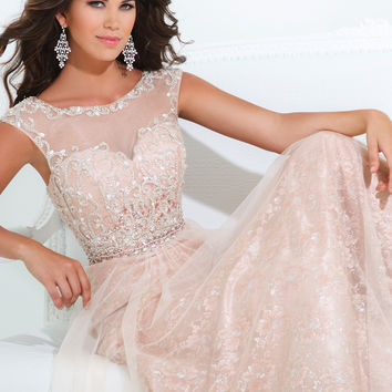 High Neck With Sheer Back Tony Bowls Evenings Prom Dress TBE11415