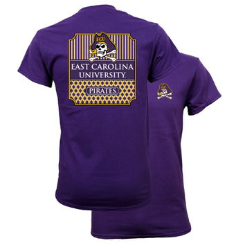 Southern Couture University of East Carolina ECU Pirates Classic Preppy Girlie Bright T Shirt