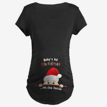Cute Maternity Clothes Women For Pregnant Tshirt Clothes Summer Women T-Shirts Maternity Clothes Tops for Pregnant