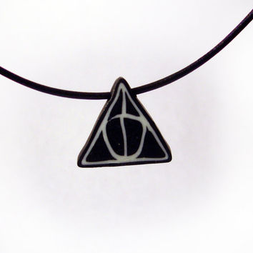Harry Potter Pendant Deathly Hallows Symbol in by MagicByLeah