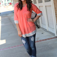 Happy Go Lucky Tunic {Coral}