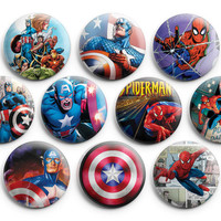 Super Heroes Marvel Comics Pinback Buttons Badge #2 (Set of 10) 1.25 inches ,New