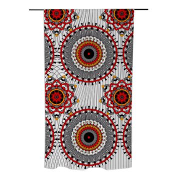 Tribal Orange Grey White Stylish Panel Curtain created by Pasion4Fashion | Print All Over Me