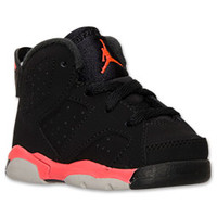Boys' Toddler Air Jordan Retro 6 Basketball Shoes