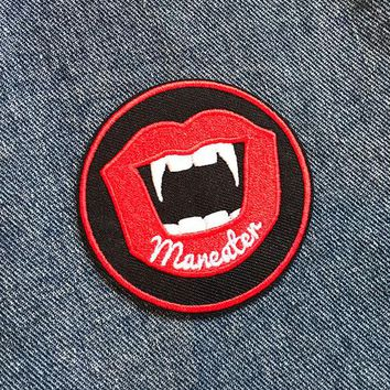 MANEATER IRON ON PATCH