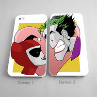 Joker And Harley Quinn Falling Love Couples Couples Phone Case iPhone 4/4S, 5/5S, 5C Series, iPhone 6, 6plus- Hard Plastic, Rubber Case